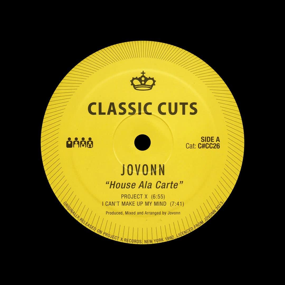 "Jovonn House Ala Carte Clone 12"", Reissue Vinyl"