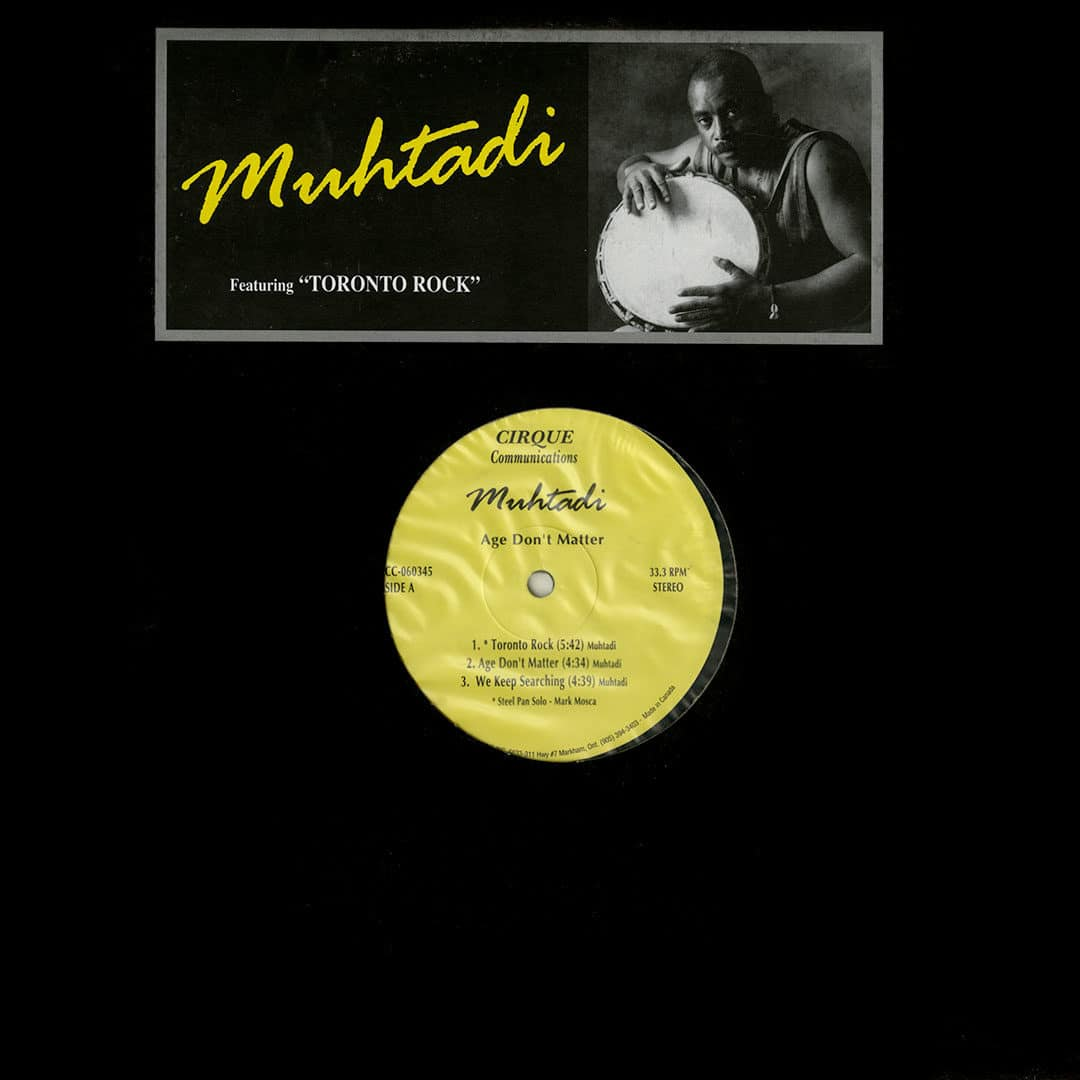 Muhtadi Age Don't Matter Cirque Communications LP, Original Vinyl