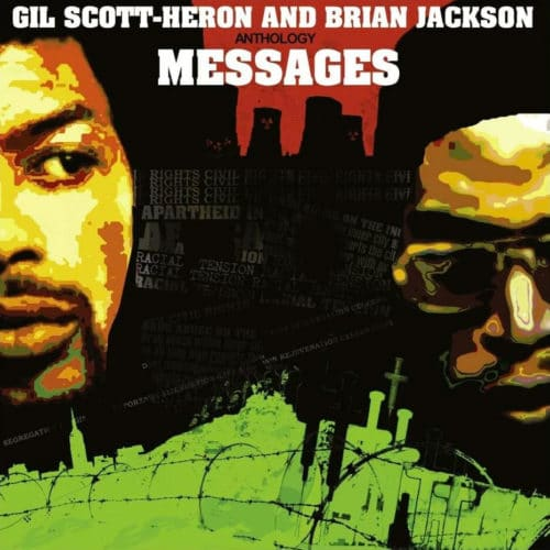 Brian Jackson, Gil Scott-Heron Anthology Messages Soul Brother 2xLP, Compilation, Reissue Vinyl
