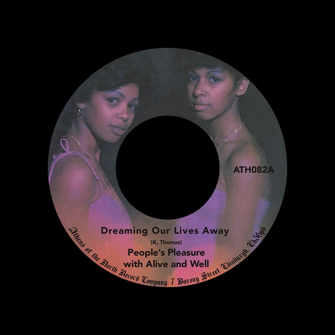 """People's Pleasure Dreaming Our Lives Away / A Feeling Inside Athens Of The North 7"""", Reissue Vinyl"""
