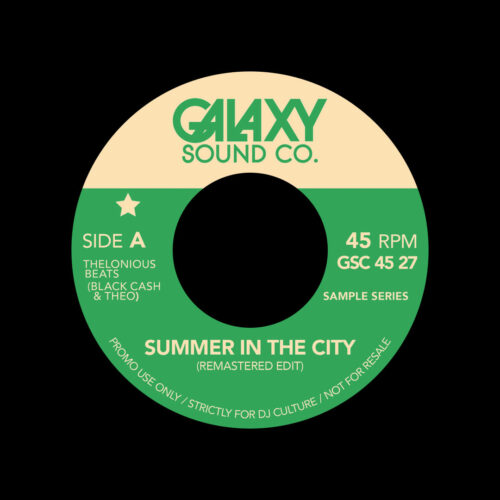 "Jack DeJohnette, Quincy Jones Summer In The City / Epilog (Edits) Galaxy Sound Co 7"" Vinyl"