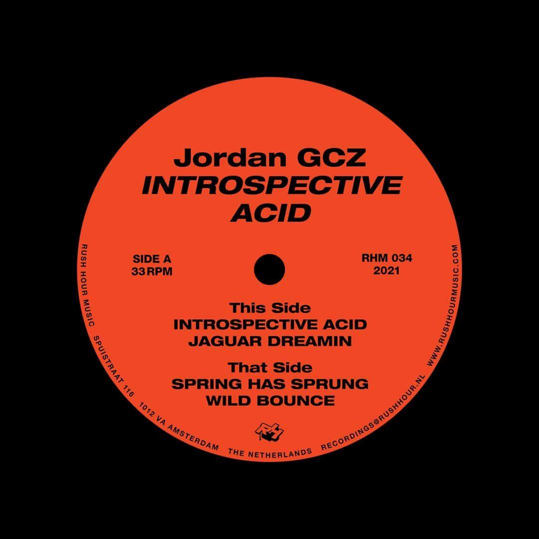 """Jordan GCZ Introspective Acid Rush Hour Music 12"""" Vinyl"""