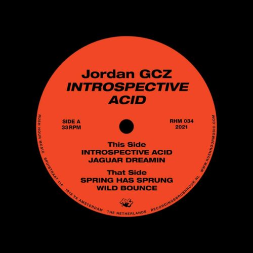 "Jordan GCZ Introspective Acid Rush Hour Music 12"" Vinyl"