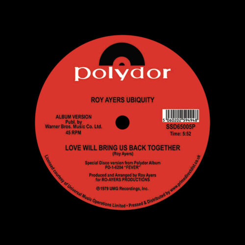 "Roy Ayers Running Away / Love Will Bring Us Back Together South Street Disco 12"", Reissue Vinyl"