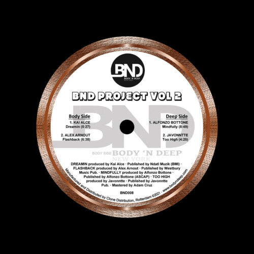 "Various BND Project, Vol. 2 Body N Deep 12"" Vinyl"
