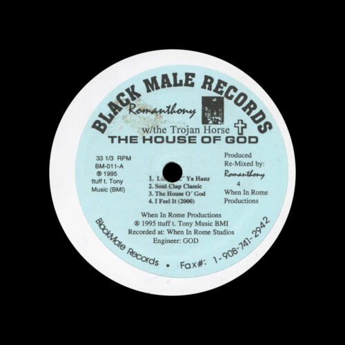 "Romanthony, The Trojan Horse The House Of God Black Male Records 12"" Vinyl"