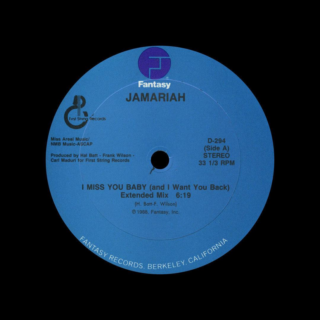 "Jamariah I Miss You Baby Fantasy 12"" Vinyl"