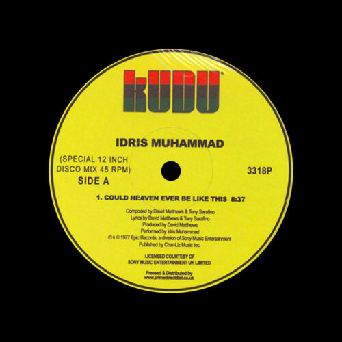 """Idris Muhammad Could Heaven Ever Be Like This Kudu 12"""", Reissue Vinyl"""