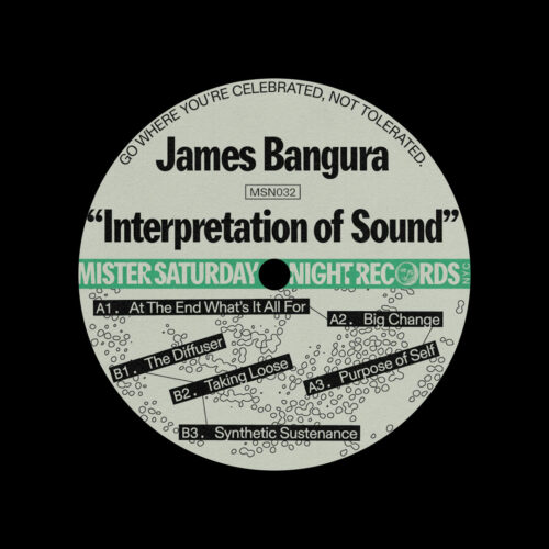 "James Bangura Interpretation Of Sound Mister Saturday Night 12"" Vinyl"