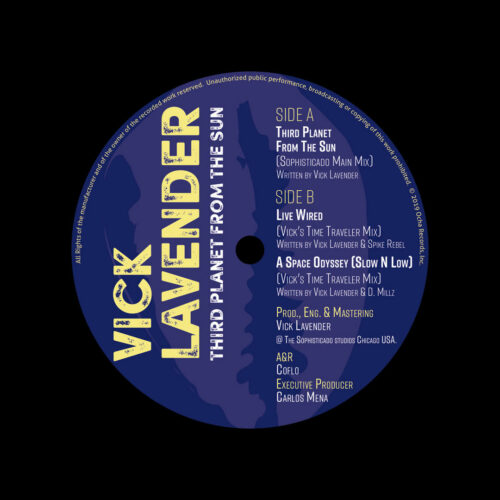 "Vick Lavender Third Planet From The Sun Ocha Records 12"" Vinyl"
