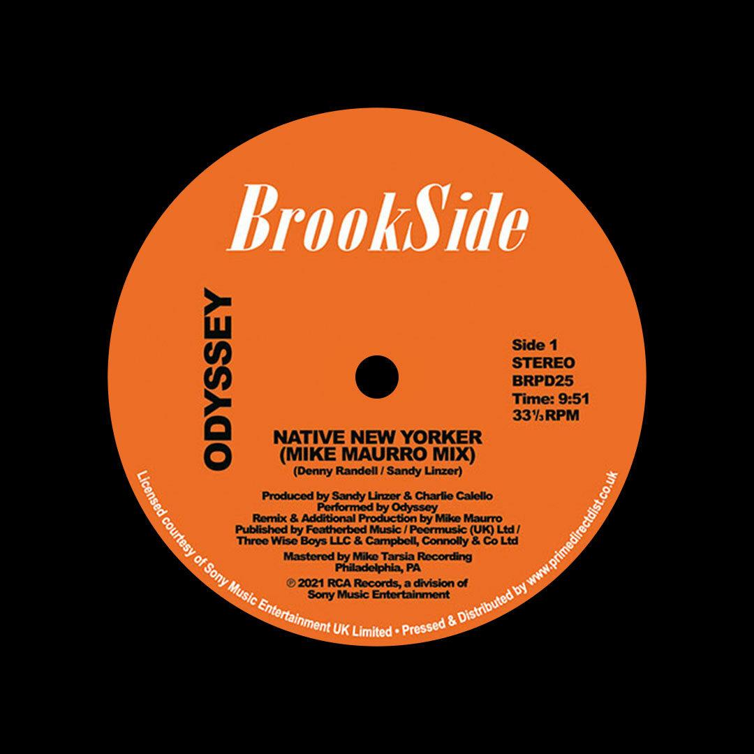"Odyssey Native New Yorker / Mike Maurro remixes Brookside 12"", Reissue Vinyl"