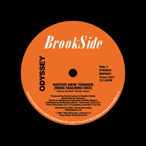 "Odyssey Native New Yorker / Mike Maurro remixes Brookside 12"", Reissue Vinyl"