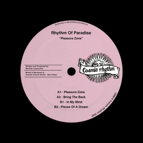 "Rhythm Of Paradise Pleasure Zone Cosmic Rhythm 12"", Repress Vinyl"