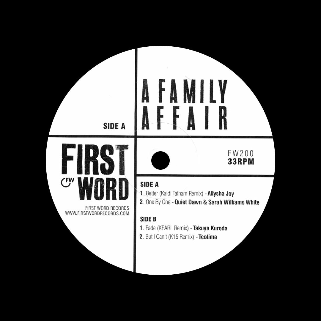"Various A Family Affair First World Records 12"" Vinyl"