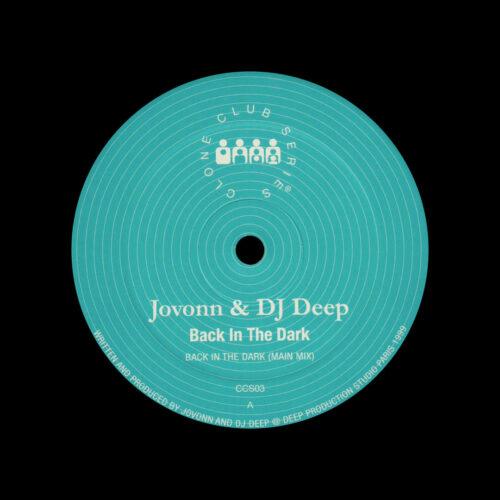 "DJ Deep, Jovonn Back In The Dark Clone 12"" Vinyl"