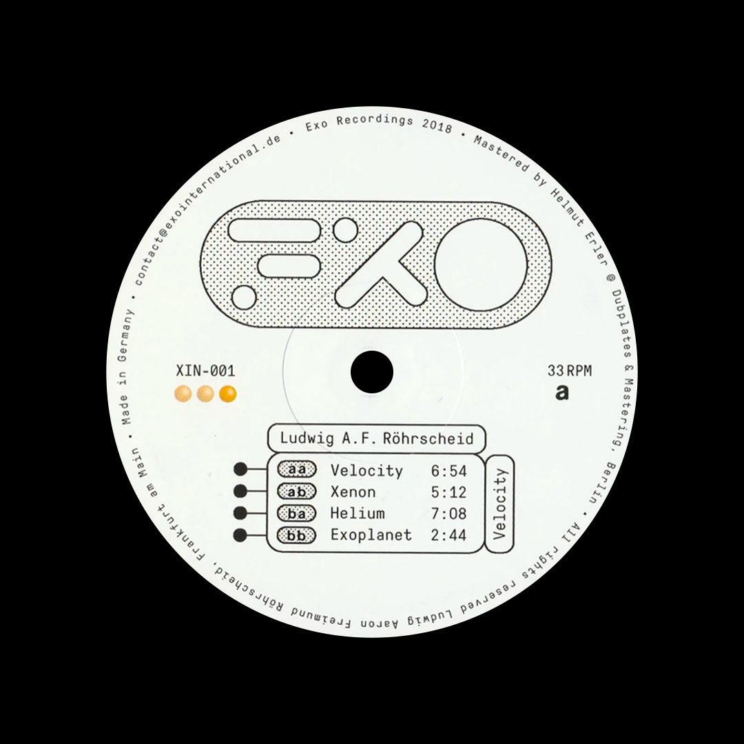 "Ludwig AF Velocity Exo Recordings 12"", Reissue, Repress Vinyl"