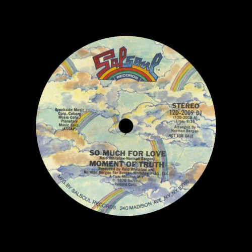 "Moment Of Truth So Much For Love Salsoul Records 12"", Promo Vinyl"