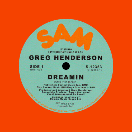 Greg Henderson Dreamin Sam Records LP, Reissue Vinyl