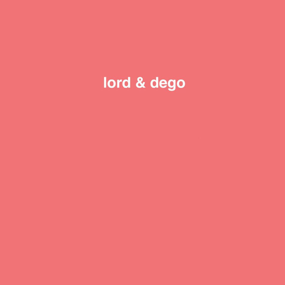 """Dego, Lord Lord & Dego 2000 Black 12"""" Vinyl"""