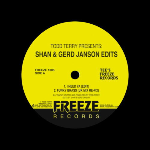 "Todd Terry Shan & Gerd Janson Edits, Vol. 1 Freeze Records 12"" Vinyl"