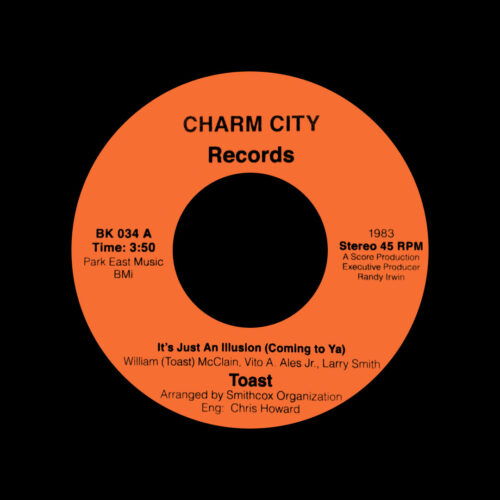 """Toast It's Just An Illusion Backatcha Records 7"""", Reissue Vinyl"""