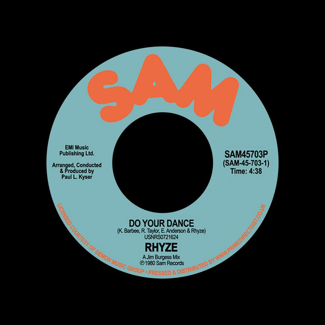 "Rhyze Do Your Dance / Free Sam 7"", Reissue Vinyl"