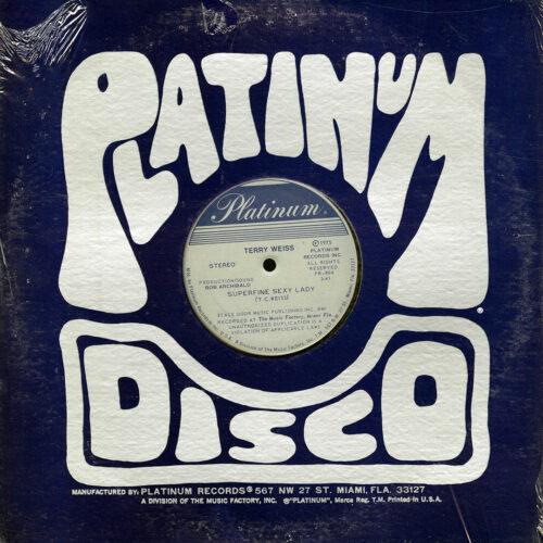 "Terry Weiss Where Will I Go / Superfune Sexy Lady Platinum 12"" Vinyl"