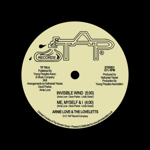 """Arnie Love & The Loveletts Invisible Wind / Me, Myself & I / We Had Enough Tap Records 12"""", Reissue, RSD2021 Vinyl"""