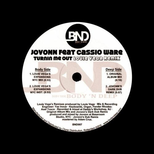 "Jovonn Indoors EP Body N Deep 12"" Vinyl"
