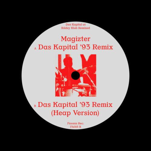 "Magizter Das Kapital at Raday Klub (remixed) Fasaan Recordings 12"" Vinyl"