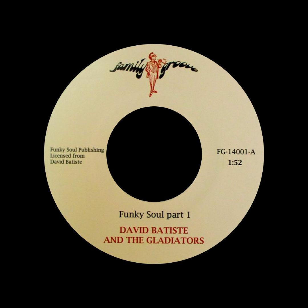"""David Batiste & The Gladiators Funky Soul Family Groove Records 7"""" Vinyl"""