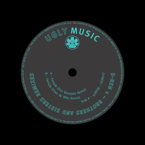 """D-Ren 1 Brothers And Sisters (Remixes) Ugly Music 12"""", Reissue Vinyl"""