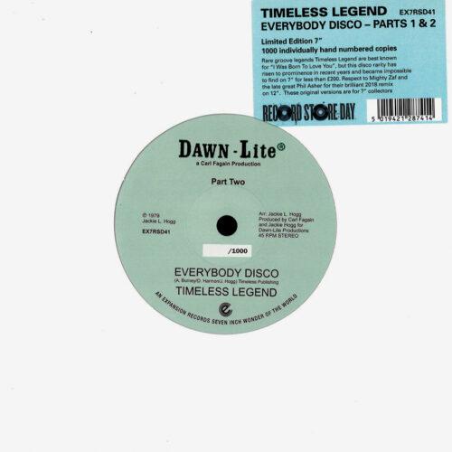 "Timeless Legend Everybody Disco Expansion 7"", Reissue, RSD2021 Vinyl"
