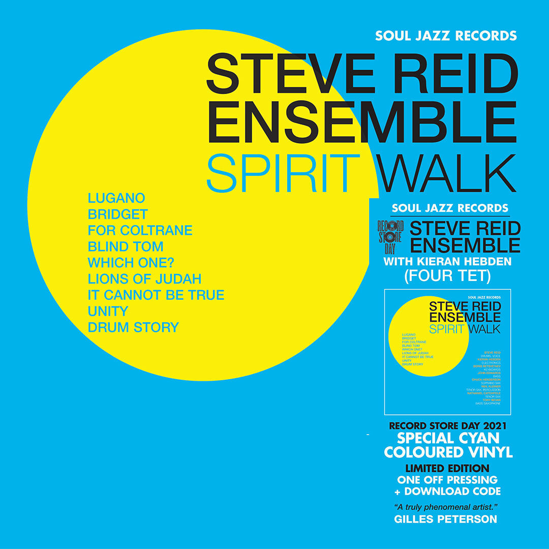 Steve Reid Spirit Walk Soul Jazz Records 2xLP, Colored, Reissue, Repress, RSD2021 Vinyl