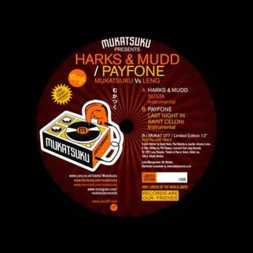"Harks & Mudd, Payfone The Balearic Edition Mukatsuku Records 7"" Vinyl"