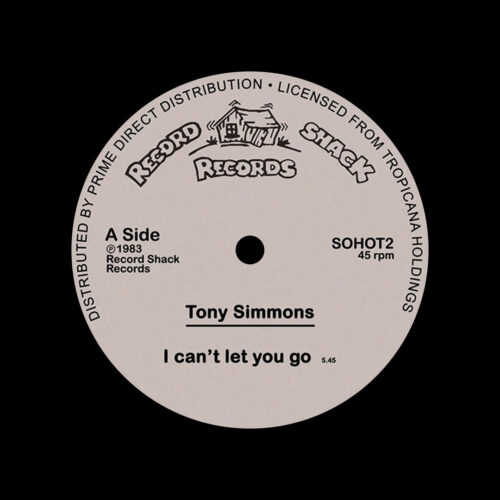 """Tony Simmons I Can't Let You Go Record Shack 12"""", Reissue Vinyl"""