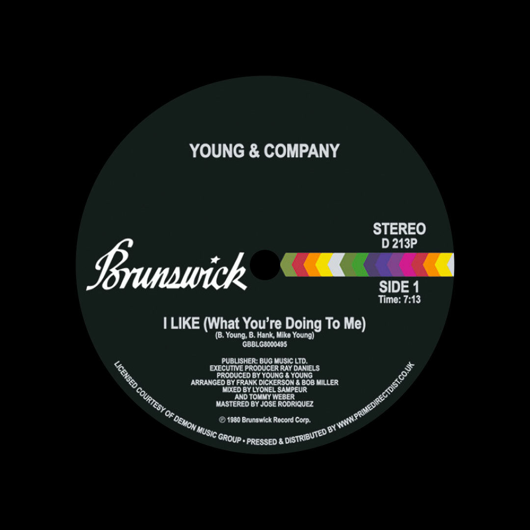 """Young & Company I Like (What You're Doing To Me) Brunswick 12"""", Reissue, RSD2021 Vinyl"""