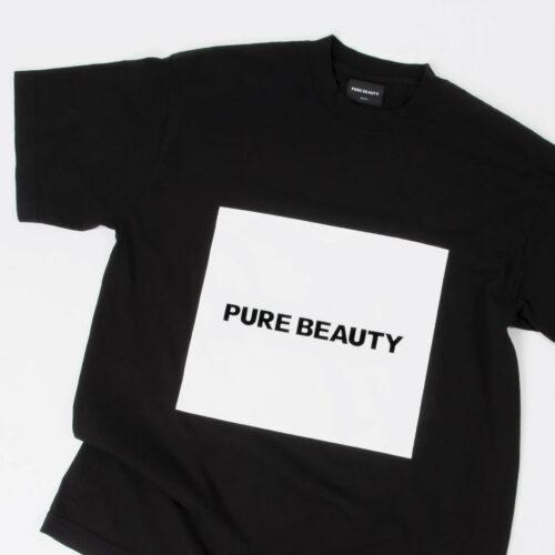 Pure Beauty S/S Black (White) Box Logo T-Shirt Pure Beauty Merchandise Vinyl