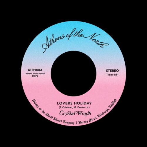 """Crystal Winds Lovers Holiday / Love Ain't Easy Athens Of The North 7"""", Reissue Vinyl"""