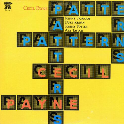Cecil Payne Patterns Savoy Jazz LP Vinyl
