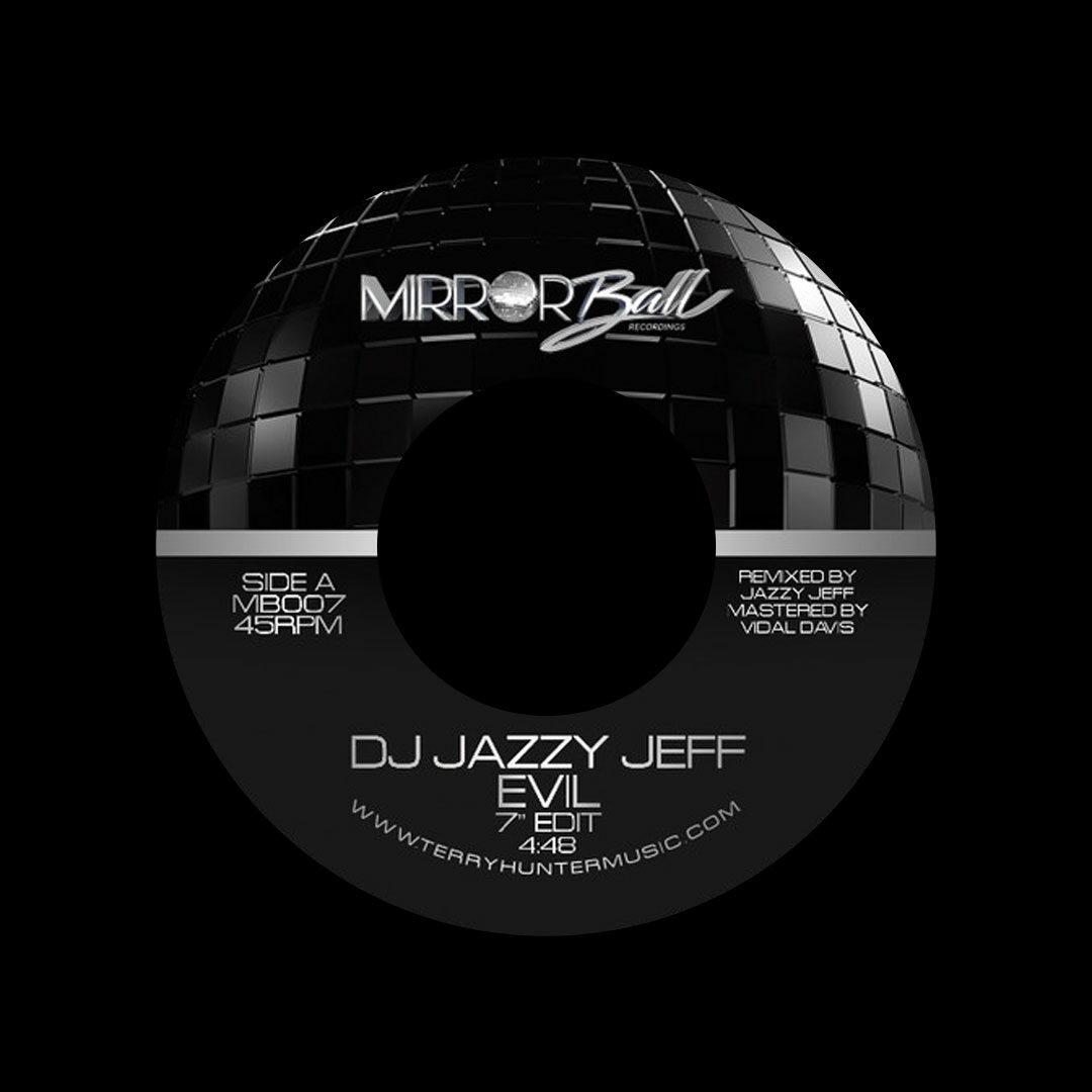 "DJ Jazzy Jeff Evil Mirror Ball Recordings 7"" Vinyl"