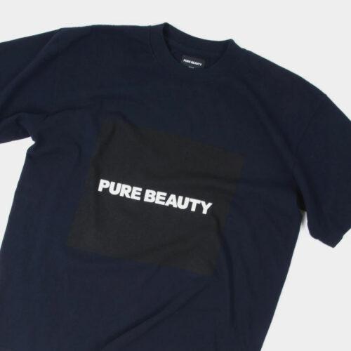 Pure Beauty SS Navy (Black) Box Logo T-Shirt Pure Beauty Merchandise Vinyl