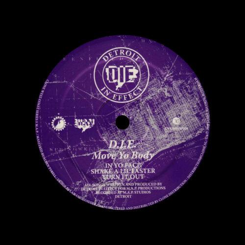 """D.I.E. Move Yo Body Clone, MAP Records 12"""" Vinyl"""