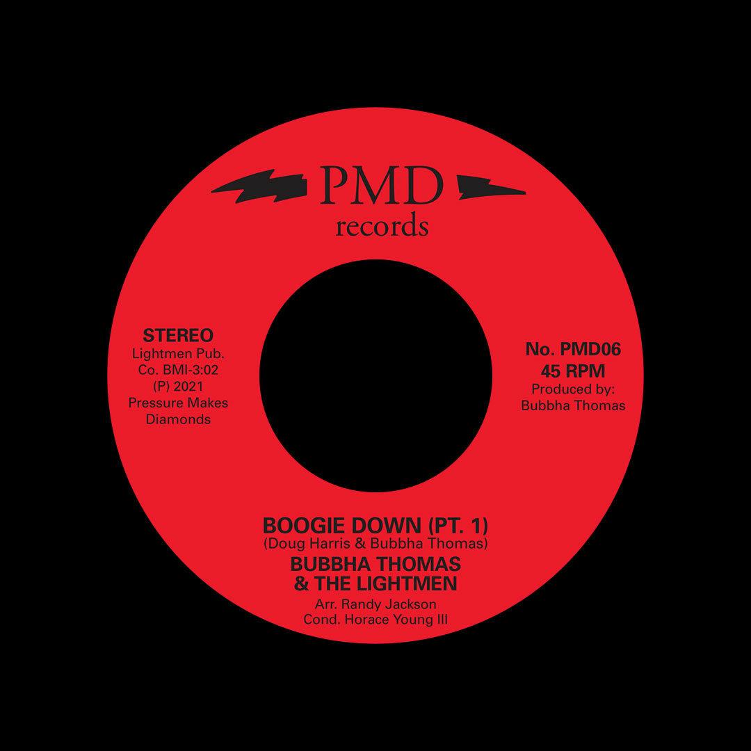 """Bubbha Thomas & The Lightmen Boogie Down Pressure Makes Diamonds 7"""", Reissue Vinyl"""