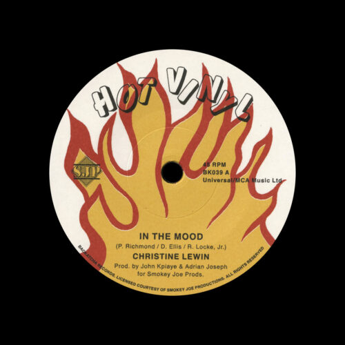 """Christine Lewin, Tricia Dean In The Mood / Don't Let It Go To Your Head Backatcha Records 7"""", Reissue Vinyl"""