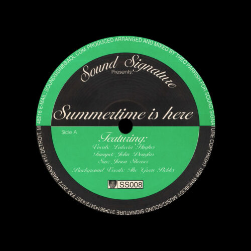 "Theo Parrish Summertime Is Here Sound Signature 12"", Reissue Vinyl"