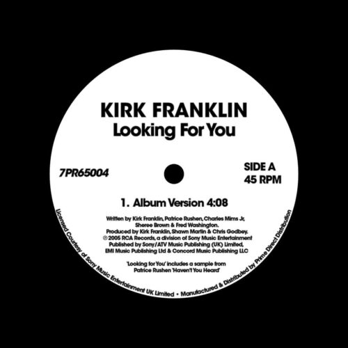 """Kirk Franklin Looking For You RCA Records 7"""", Reissue Vinyl"""
