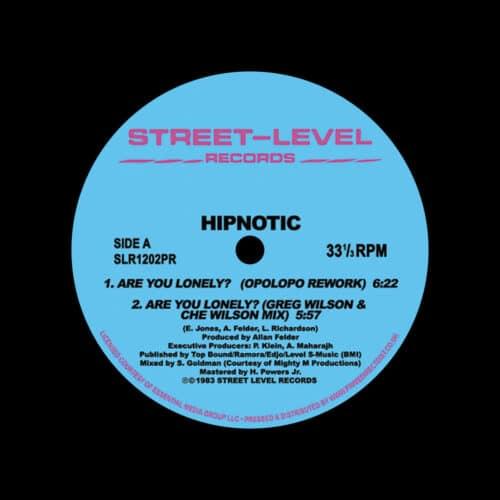 "Hipnotic Are You Lonely? (Remixes) Street-Level Records 12"", Reissue Vinyl"