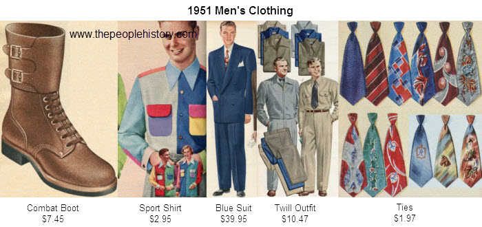 Mens Fashion Clothing Examples From 1951