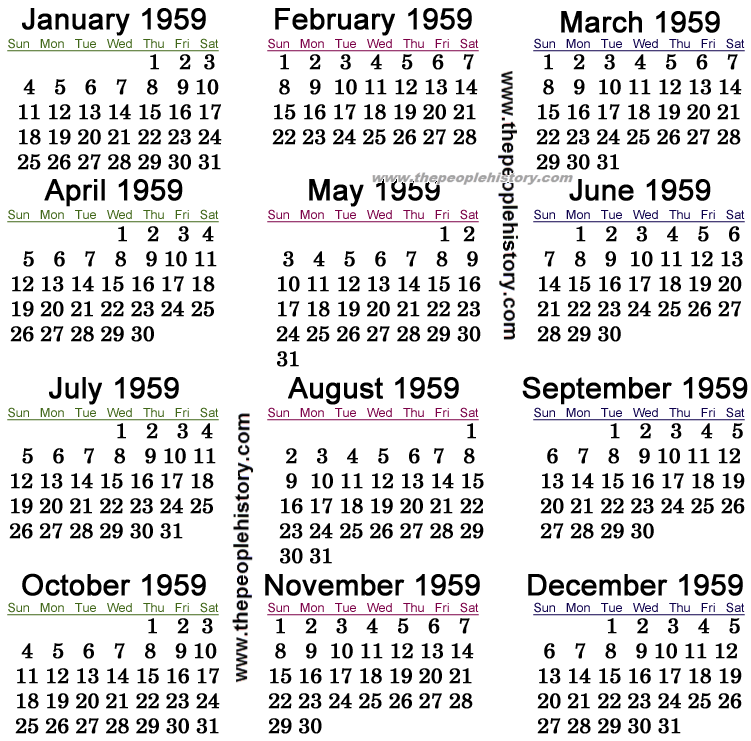 What Happened In 1959 Including Pop Culture Significant